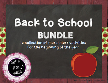 Back to School BUNDLE ~ 20 music activities & games for beginning of the year