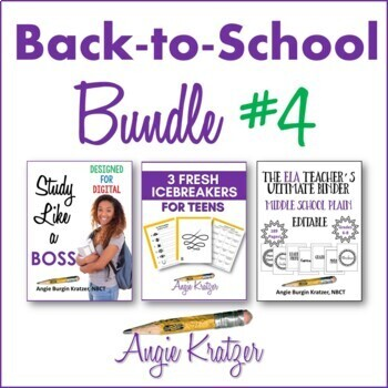 Back-to-School BUNDLE #4 {Binder, Icebreakers, Study Skills}