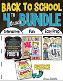 Back to School BUNDLE 4th Grade