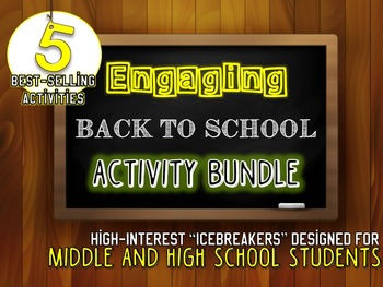 Back to School BUNDLE: 5 Engaging Activities for Middle and High School