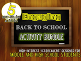 Back to School BUNDLE: 5 Engaging Activities for Middle an