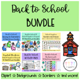 Back to School BUNDLE: Clipart, Backgrounds, Borders, Digi