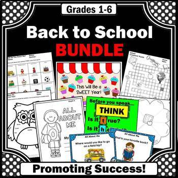 Back to School BUNDLE, Getting to Know You Games, All About Me Activities