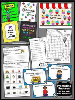 Back to School All About Me Activities BUNDLE Getting to Know You Games