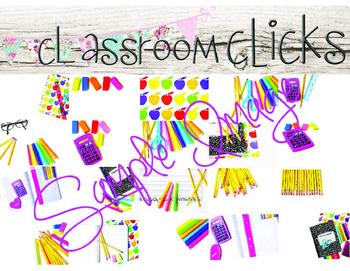 Bright Colors Back to School BUNDLE:Hi Res Images for Bloggers & Teacherpreneurs