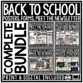 Back to School BUNDLE  [Meet the Teacher Newsletter & Open House Night]
