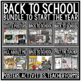 Back to School BUNDLE Meet the Teacher Template Editable, Open House Forms