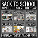 Back to School BUNDLE  [Meet the Teacher Newsletter & Open