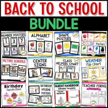 Back to School BUNDLE - Pre-K, Preschool