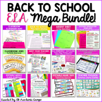 Back to School BUNDLE for Middle School ELA (Reading & Writing)
