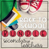Back to School BUNDLE for Secondary Teachers