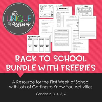 Back to School BUNDLE with FREEBIES