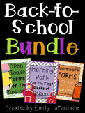 Back to School BUNDLE w/ Open House Paperwork, Morning Wor