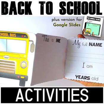 Back to School Writing Activities - BUSes