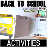 Back to School Activities - Writing fun