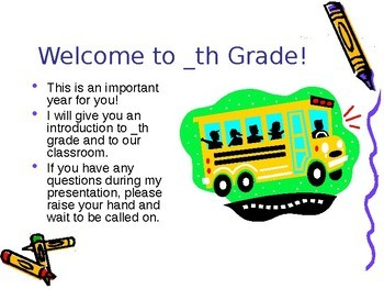 Back to School -  Welcome Back To School PowerPoint Editable