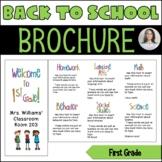 Back to School/Back to School Night Parent Brochure - 1st Grade