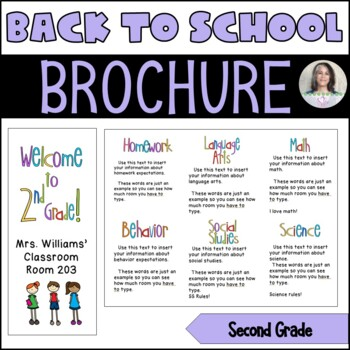 Back to School/Back to School Night Parent Brochure - 2nd Grade
