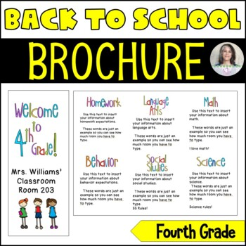 Back to School/Back to School Night Parent Brochure - 4th Grade