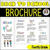 Back to School/Back to School Night Parent Brochure - 4th Grade