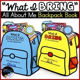 Back to School Backpack Book: All About Me Back to School