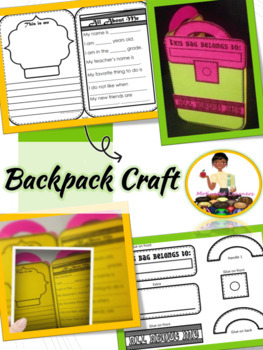 Back to School Backpack Craft (All About Me)