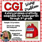 Back to School Backpack Craftivity   CGI Word Problem   Story Problem