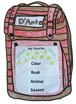 Back to School Backpack Flip Books