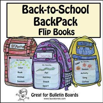 Back to School Backpack Flip Books