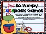 Back to School: Backpack Games (Bundled Set)