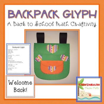 Back to School Backpack Glyph
