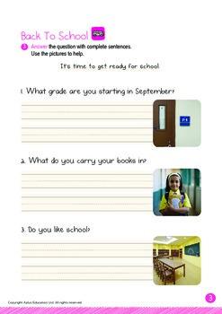 Back to School - Backpack, Grade, School (I): Word Family OOP - K3 (age 5)