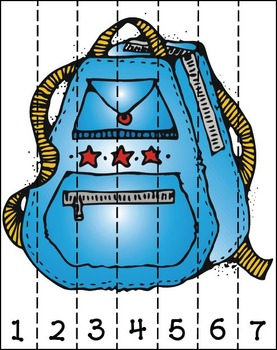 Back to School - Backpack Number Order (FREEBIE)