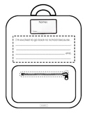 Back to School Backpack Writing Activity