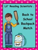 Back to School Backpacks Decoding Kit (Short Vowels) (OG)