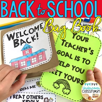 Back to School Bag Book- Interactive Kit