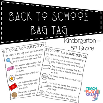 Back to School Bag Tag