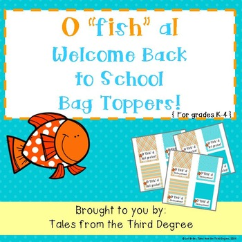 Back to School Bag Toppers