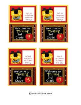 Back to School Bag Toppers for 1st Grade Through 6th Grade