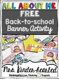 Back to School Banner Activity