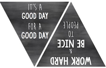 Back to School Banner Bunting: Motivational Chalkboard Charm