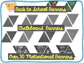 Back to School Banner Bunting: Motivational Chalkboard Charm