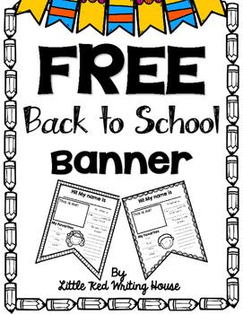 Back to School Banner {FREEBIE}