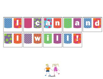 Back to School Banner: I can and I will!