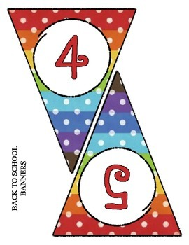 Back to School Banner Pennant Set - Entire Alphabet & Numbers 0 - 9