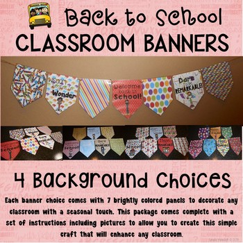 Back to School Banner Set for the Classroom