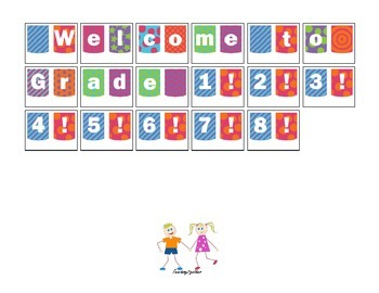 Back to School Banner: Welcome to Grade 1 (or 2-8)