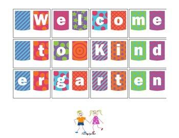 Back to School Banner: Welcome to Kindergarten