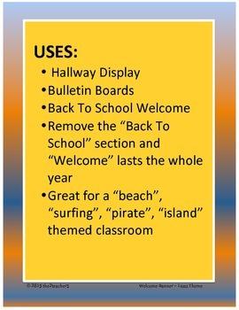 Back to School Banner - beach theme