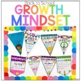 Back to School Growth Mindset Posters & Banners-Beginning of the Year Activities